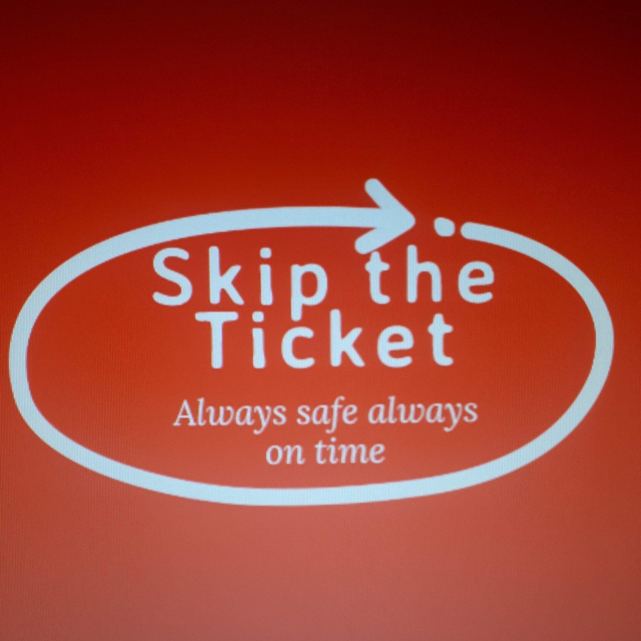 skip the ticket logo